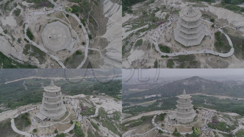 福建省泉州市石獅市寶蓋山風景區航拍1(高