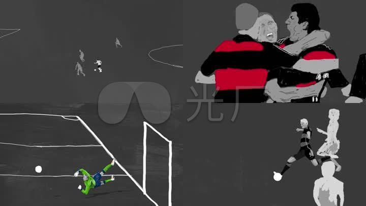 创意足球水墨运动体育