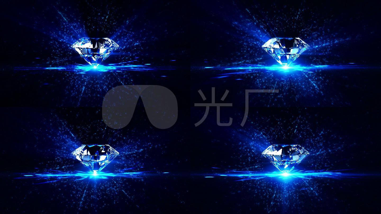 唯美星空粒子钻石舞台背景_1920x1080_高清视频素材