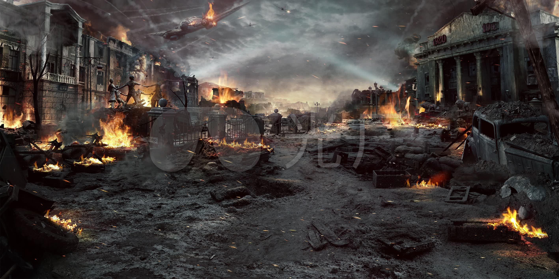 古素材高清大屏幕频道_2835X1417_战场视频中国战火网络电视图片