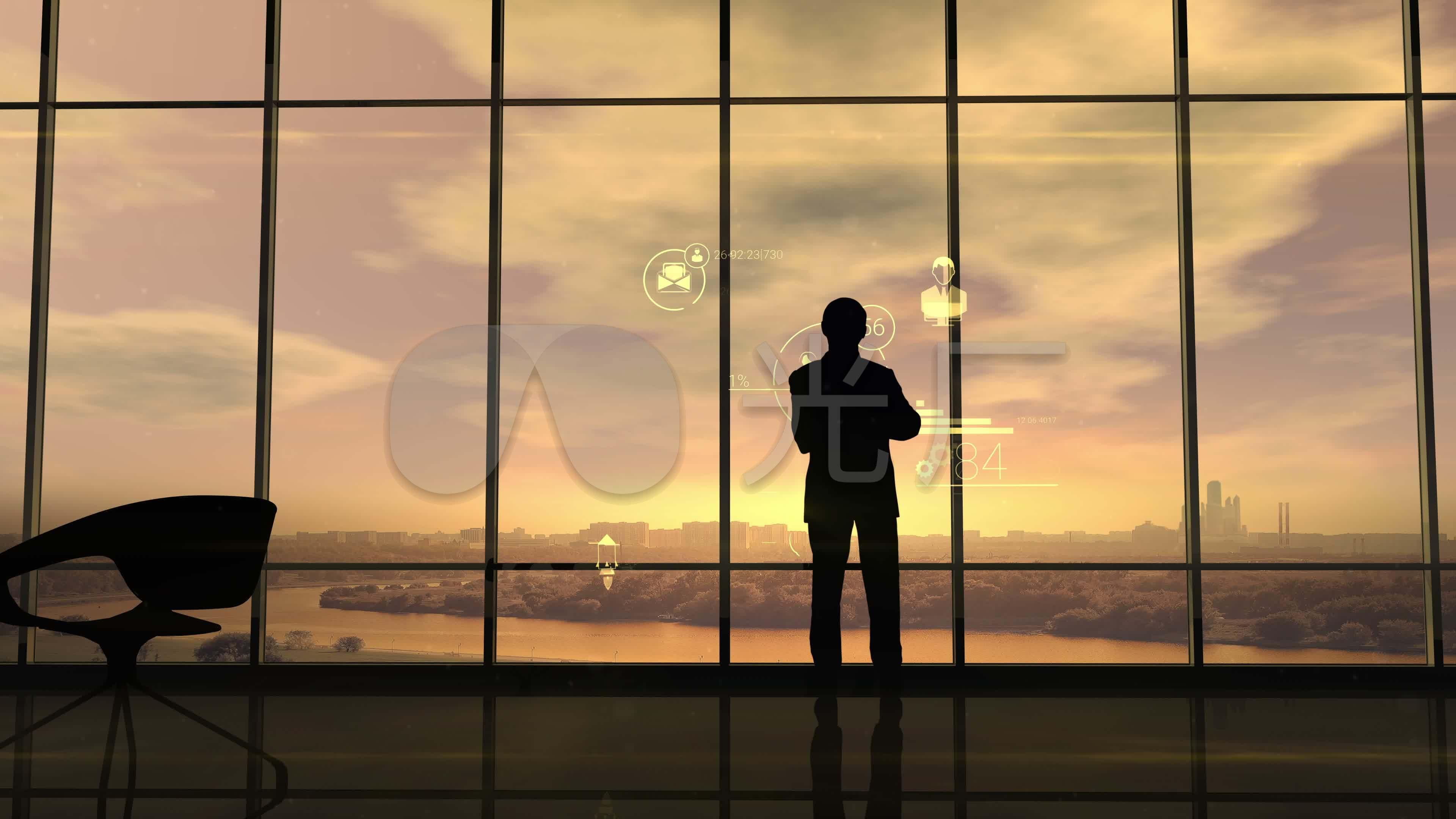 成功人士成功人士背影成功人士看风景_3840x2160_高清