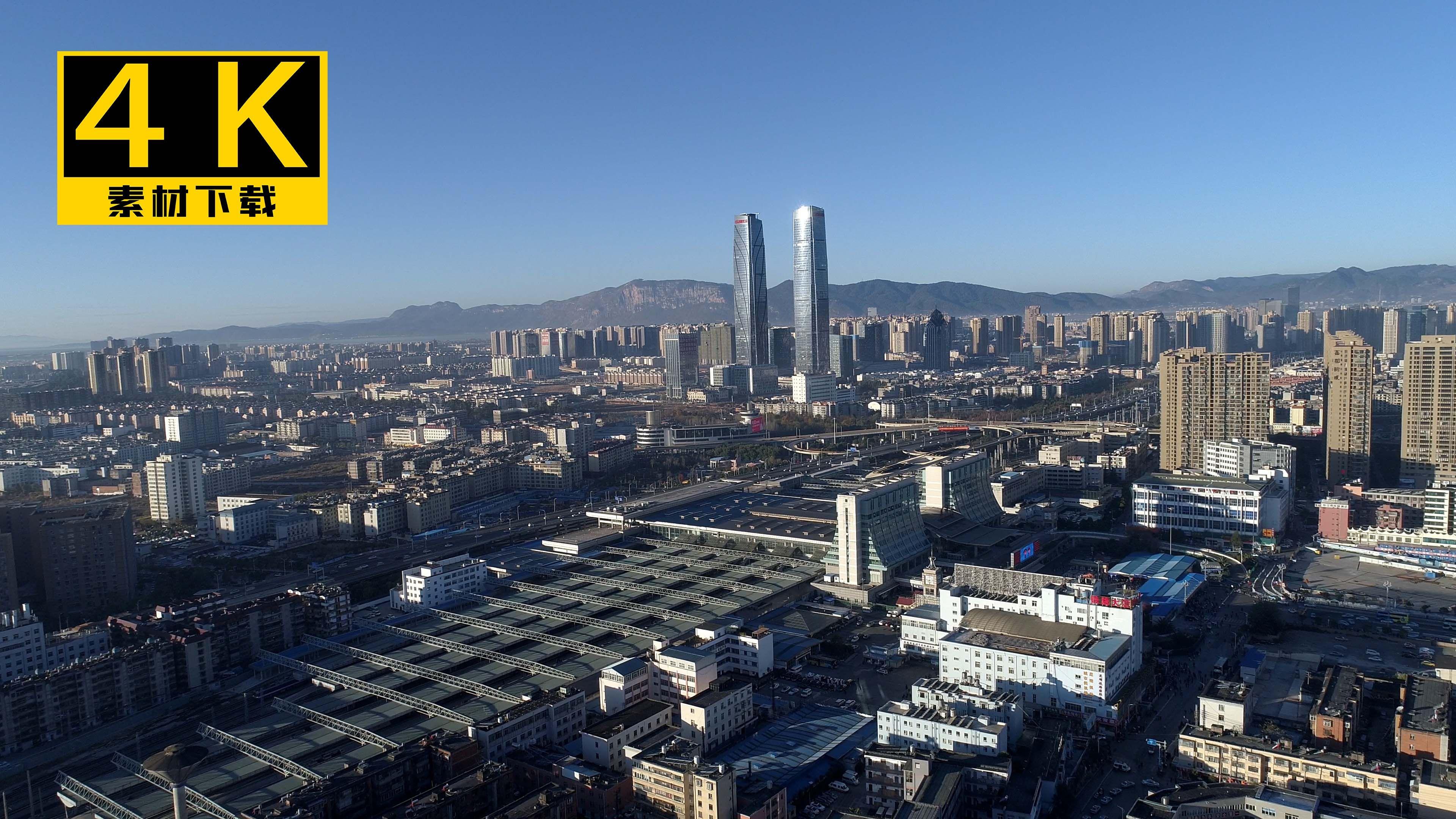 4K昆明高清v高清_3840X2160_视频视频城市下素材。牛图片
