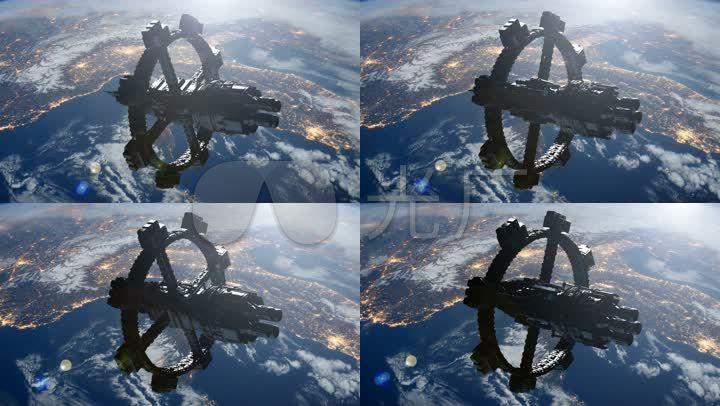 国际空间站太空飞船宇宙宇航卫星_4096x2304_高清视频