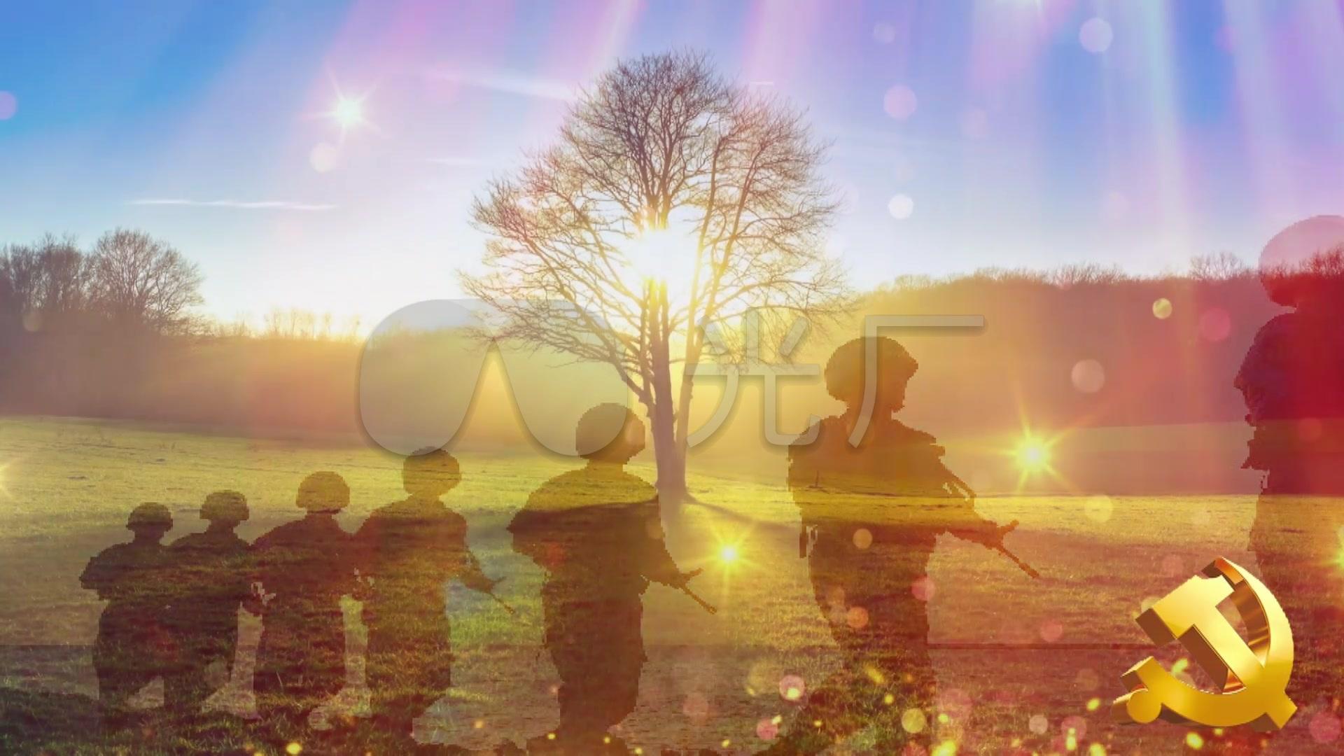 歌曲视频《小白杨》视频军旅_1920X1080_高发提拉片背景图片