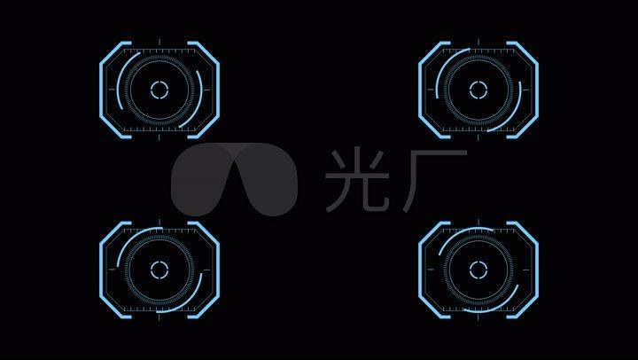 仪表盘聚焦瞄准界面高科技智能图片