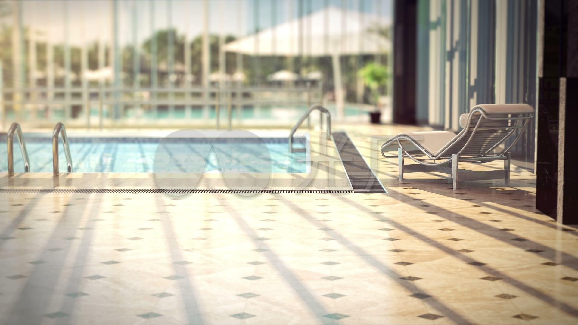 3d素材视频游泳池_1920X1080_高清动画光影贵阳装修设计别墅图片