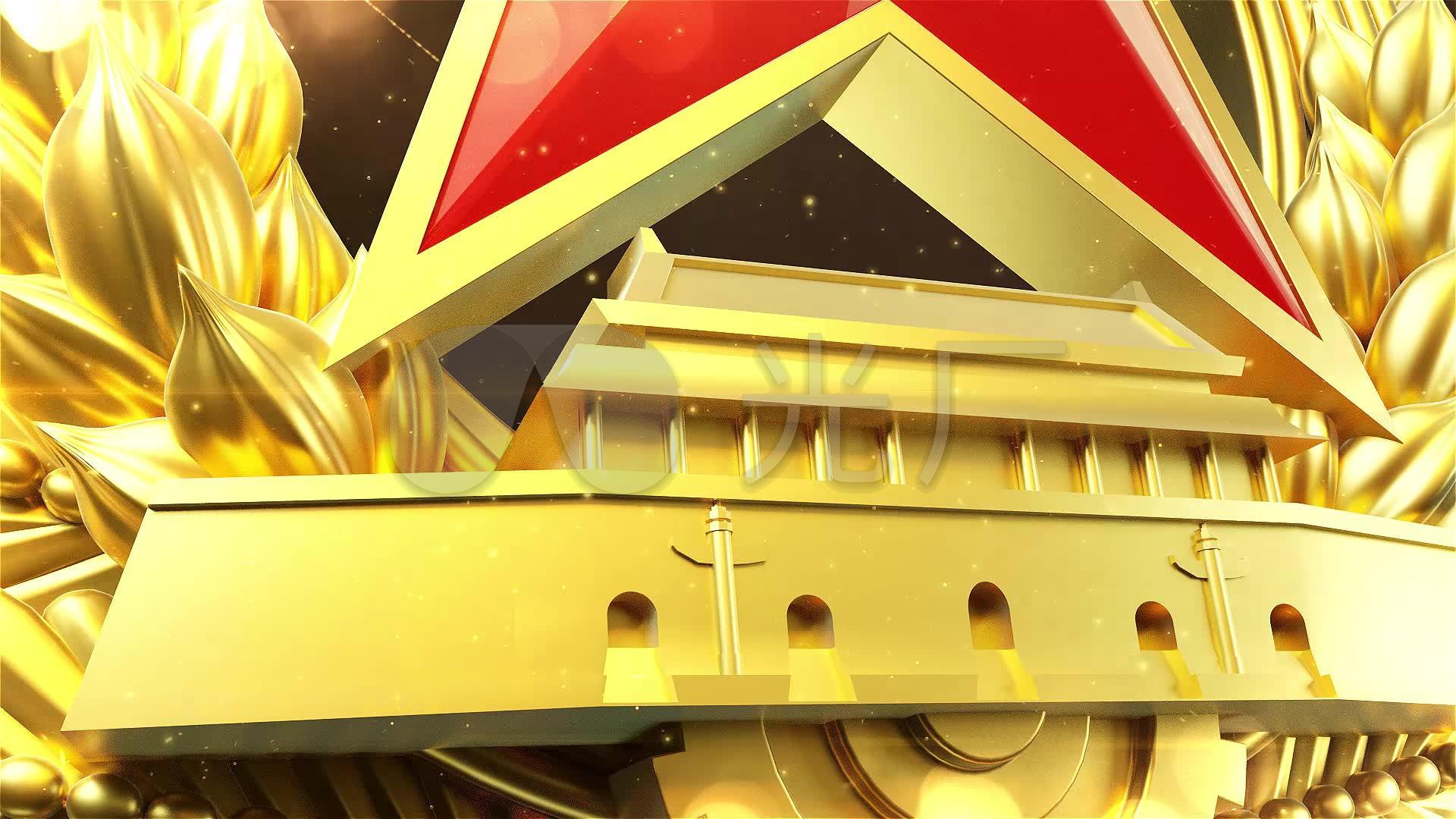 八一建军节视频无定版字MP4格式B_1920X10片头井盖智能图片