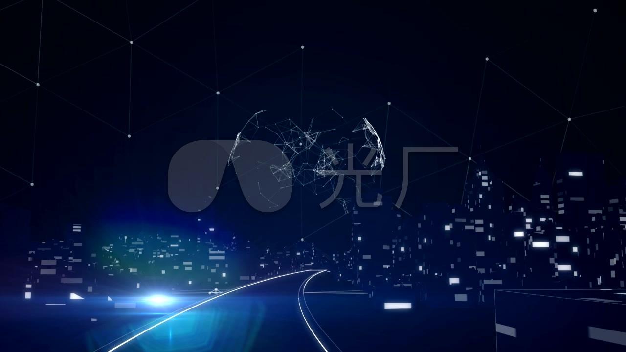 智慧城市未來科技片頭動畫圖片