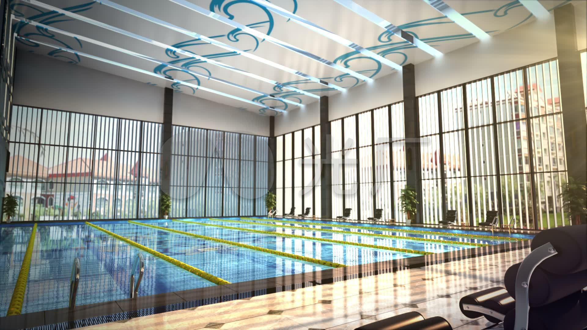 3d视频室内游泳池_1920X1080_背景高清素材海报设计动画手绘图片
