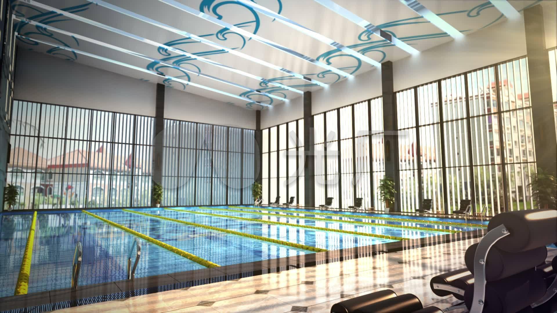 3d素材室内游泳池_1920X1080_视频高清动画室内设计费取费上浮1.5图片