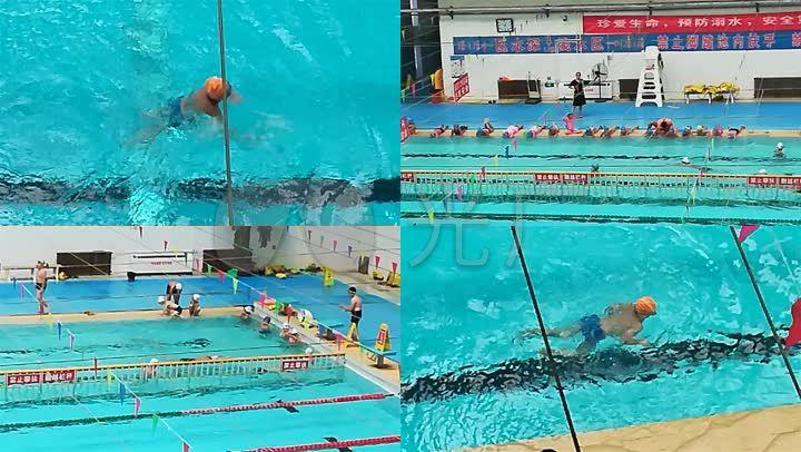 原创小学生学训练游泳电话视频夏桥小学素材图片