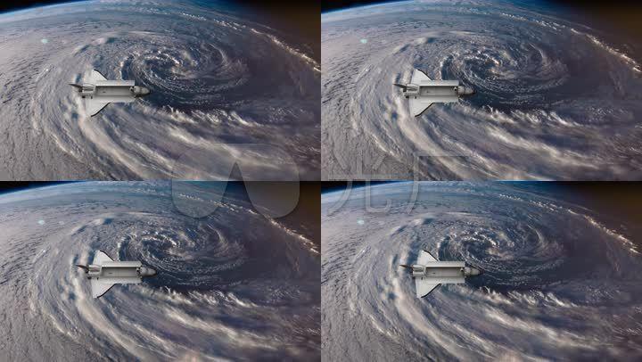 航天飞机看地球太空飞船宇宙_1920x1080_高清视频素材