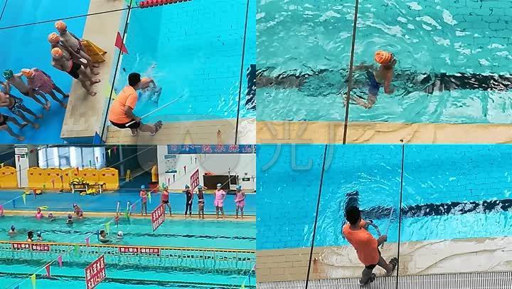 原创小学生小孩视频学游泳训练目标素_1920X小学生德育儿童图片