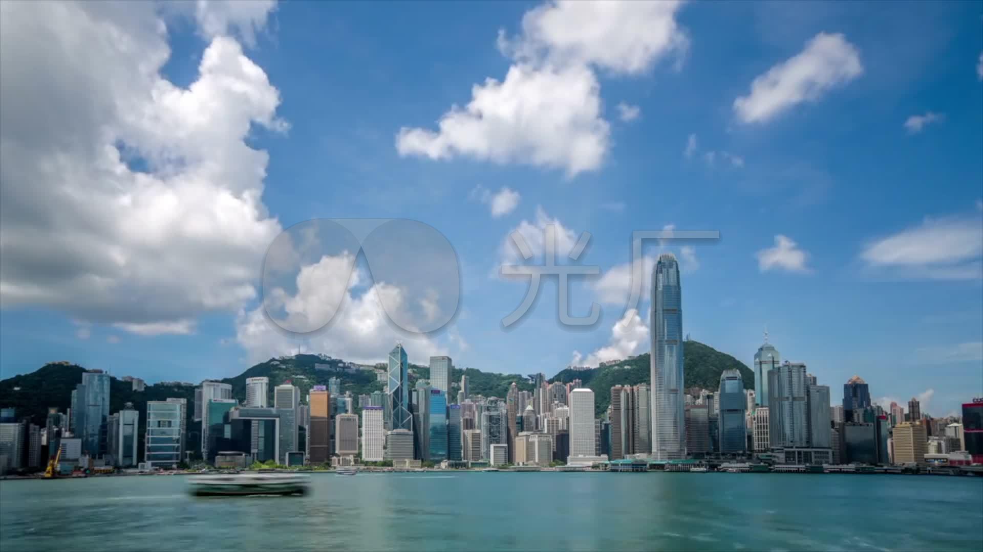 香港视频维多利亚港抽帧大街小巷_1920X108夜景qg重赛图片