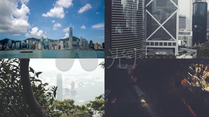 香港视频维多利亚港抽帧大街小巷_1920X108夜景十路八图片