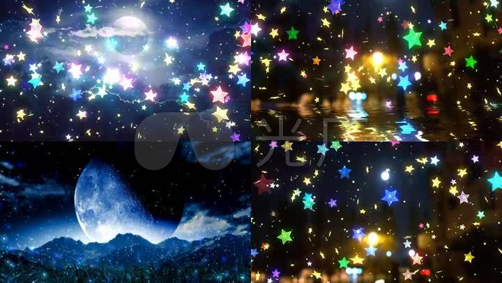 已实名签约 唯美抒情浪漫星星星空星球五星五角星夜景夜色月亮月色图片