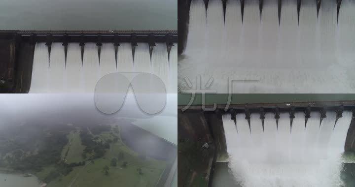 航拍三峡大坝水电站可持续发展_3840X2026_美容的视频做图片