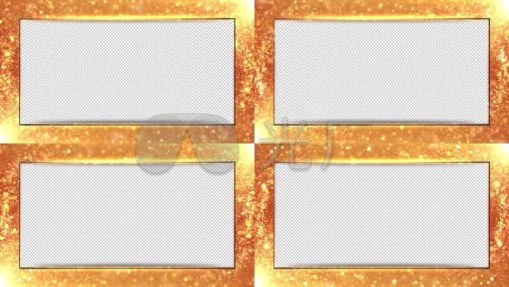 透明通道金色边框视频素材