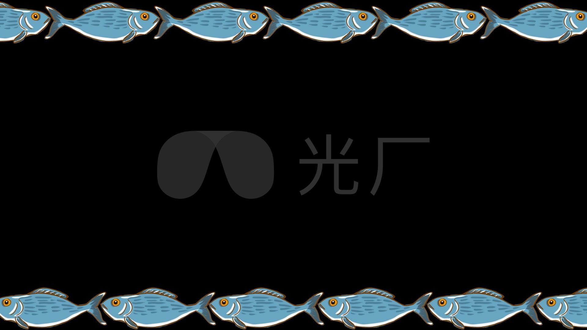中国风年年有鱼边框_1920x1080_高清视频素材下载(:)
