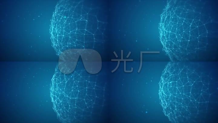 蓝色科技粒子线条球星展示背景素材