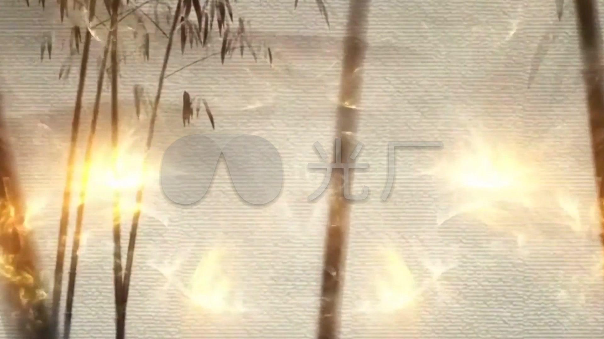 中国风荷叶视频古筝唯美水墨画竹子背景_1922017韩信视频教学新版图片