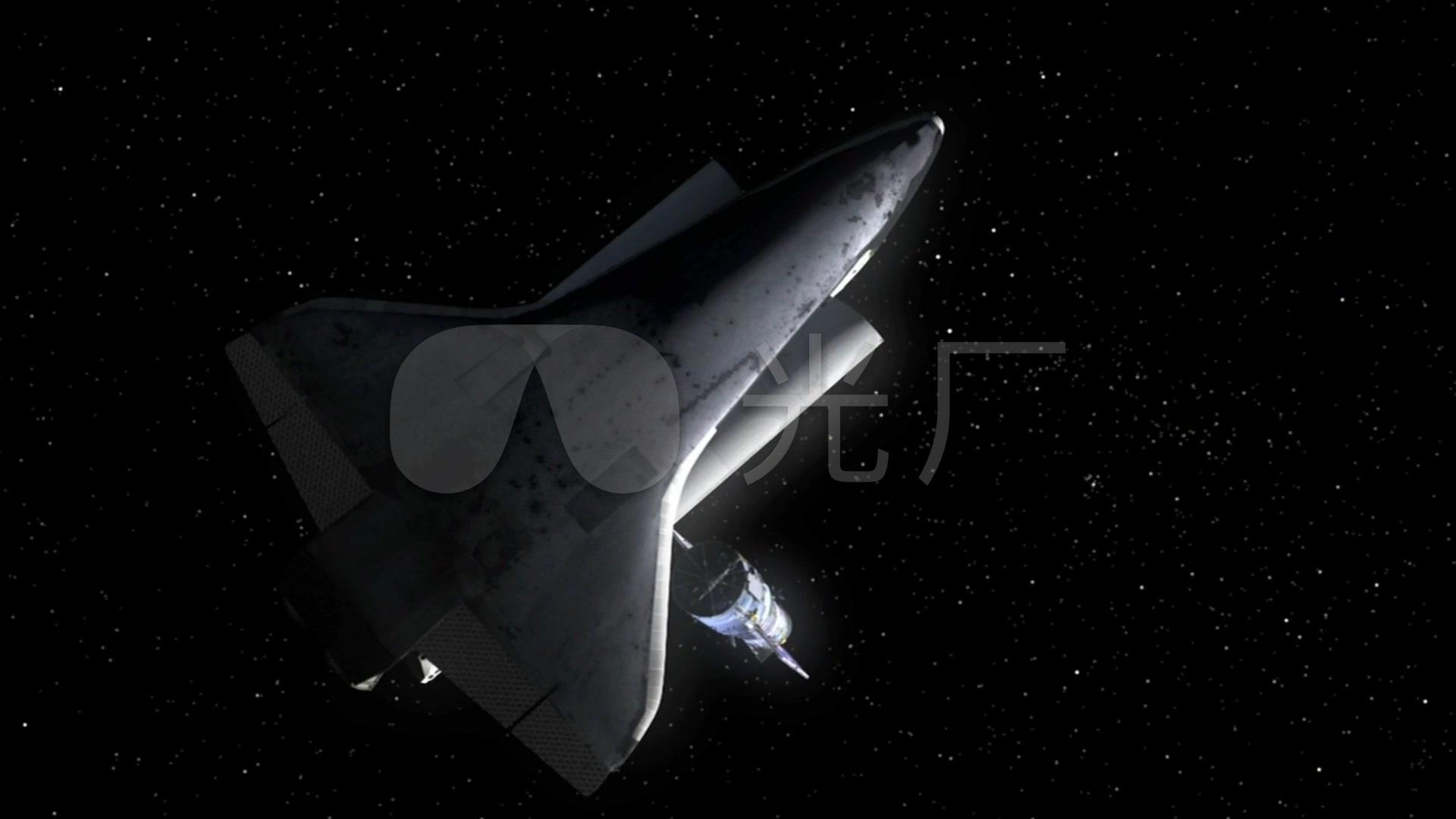 航天飞机俯瞰地球表面_1920x1080_高清视频素材下载