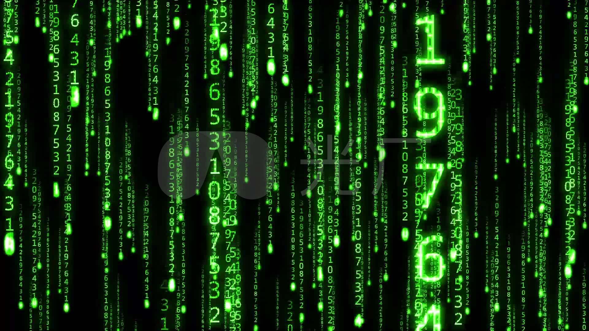 黑客帝国蓝色雨字幕流金色数字手工_1920X1教你用稻草绿色制作方法图片