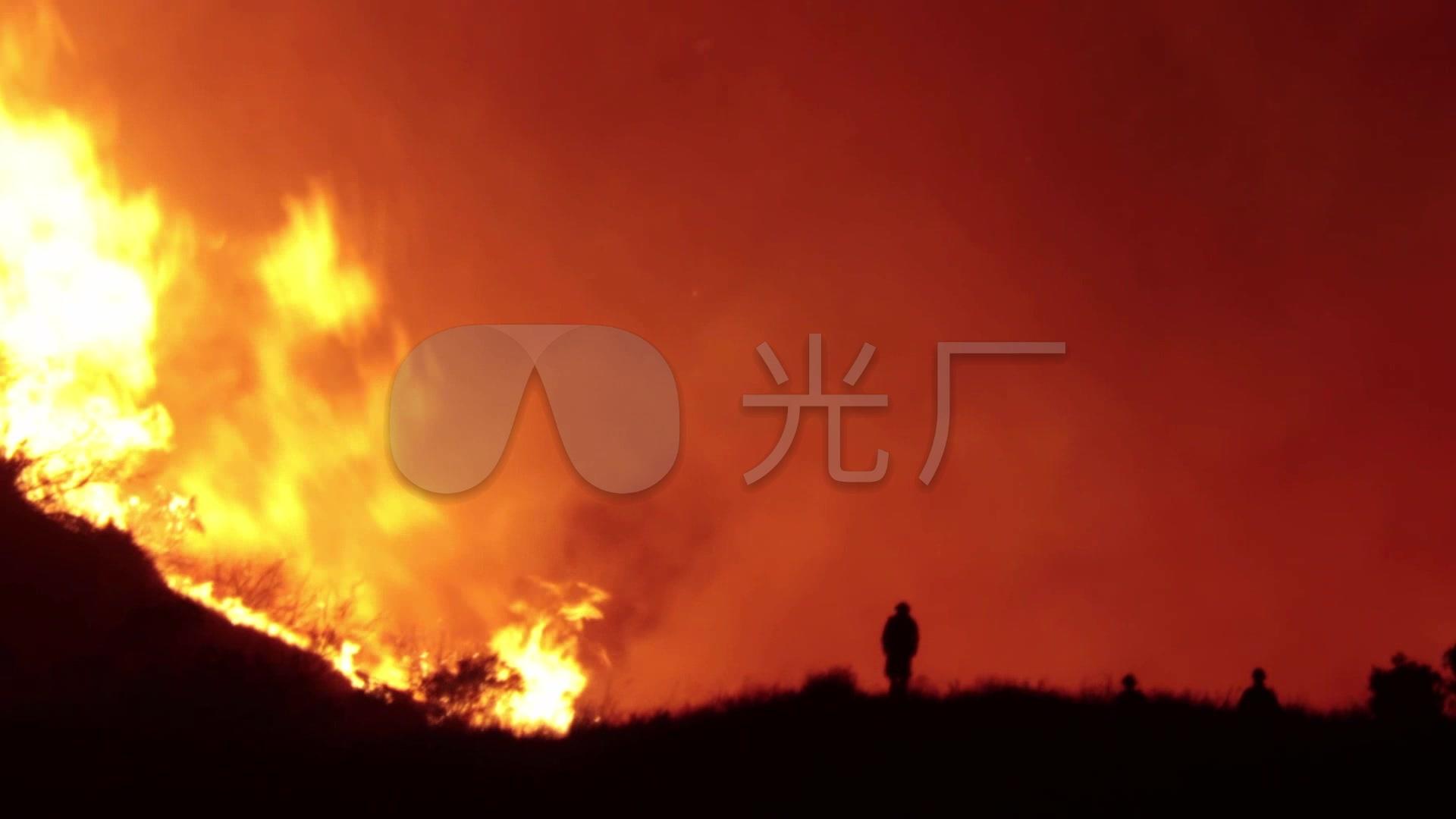 森林火灾森林大火消防员灭火图片