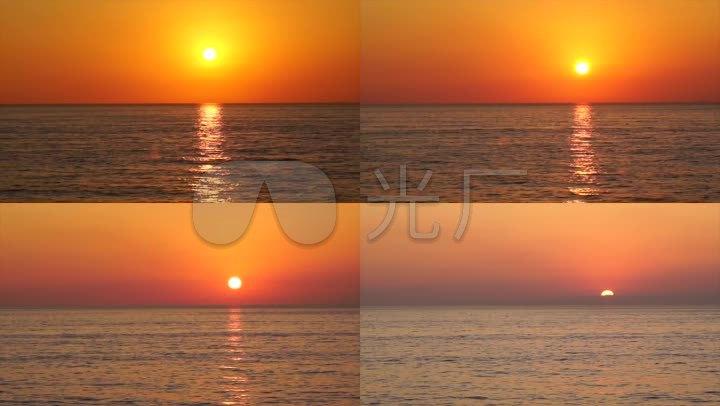 海上夕阳 晚霞