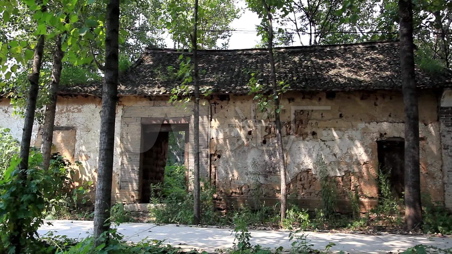 农村房子破旧房屋扶贫老房子旧房子视频素材