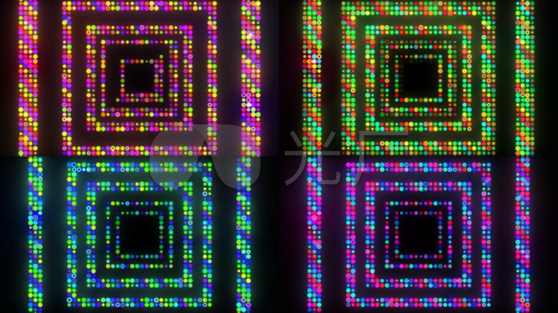 闪烁方形霓虹灯跑马灯循环带通道