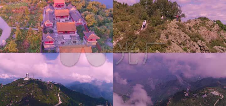 百花山自然风景区航拍视频素材