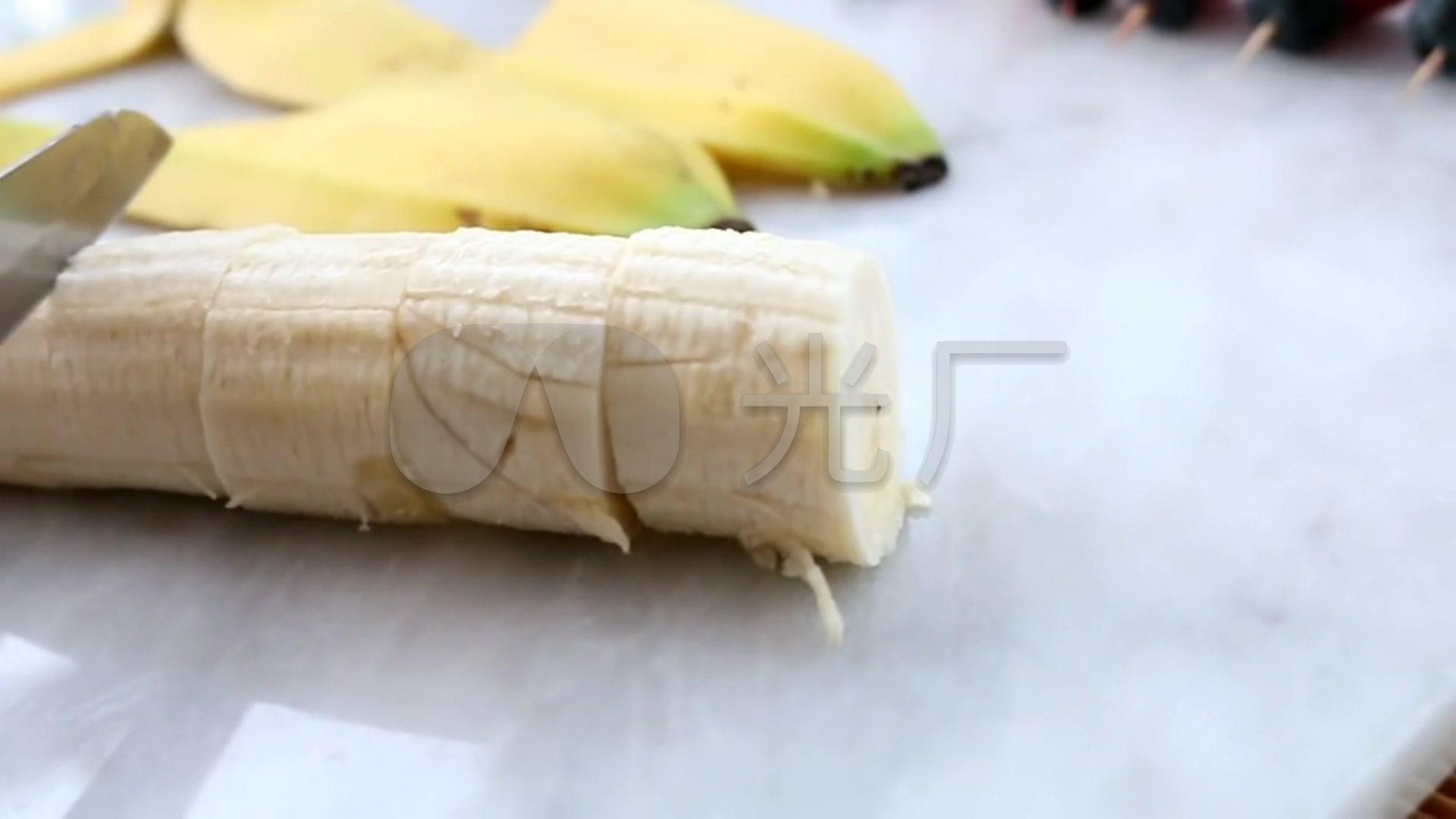 香蕉草莓蓝莓拼盘_1920X1080_高清视频素材
