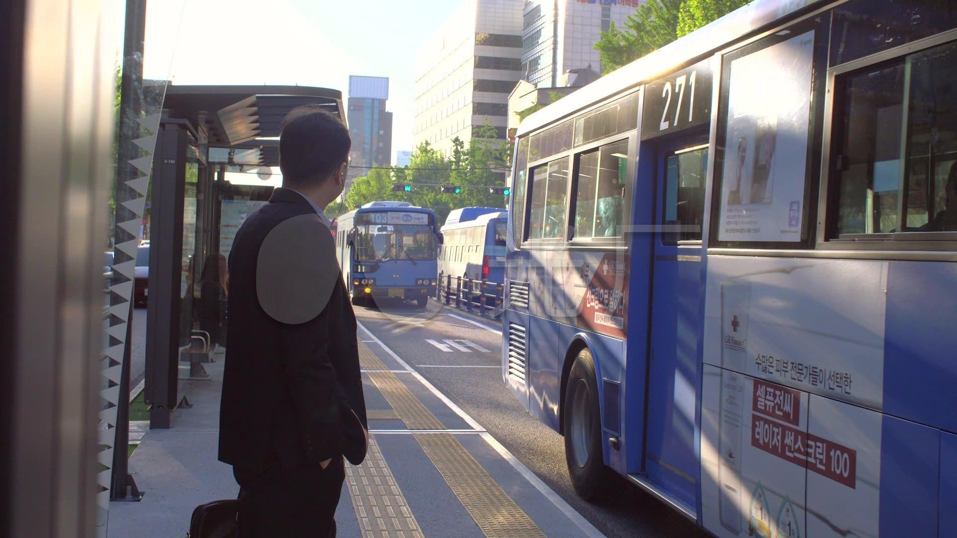 等公交车_1920X1080_视频高清素材下载(编号的凌风视频图片