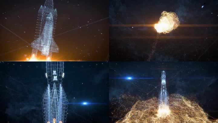 航天飞机发射升空爆炸_运载火箭三维动画