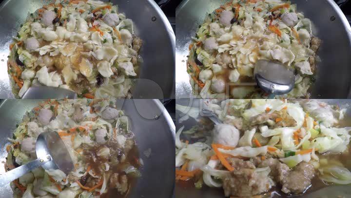 螃蟹猪肉面疙瘩卓奇辉养蔬菜图片