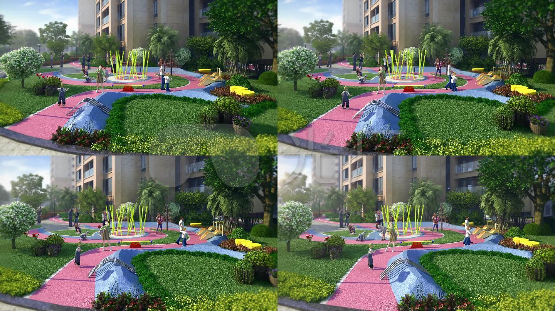 小区儿童休闲娱乐三维镜头图片