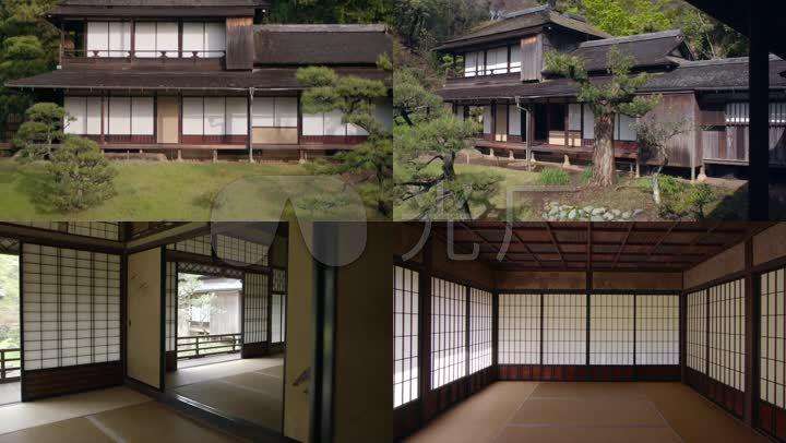 日本传统古建筑房子_民宿民居木屋内景内部