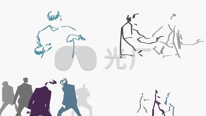 创意舞蹈动画黑白跳舞动感图片
