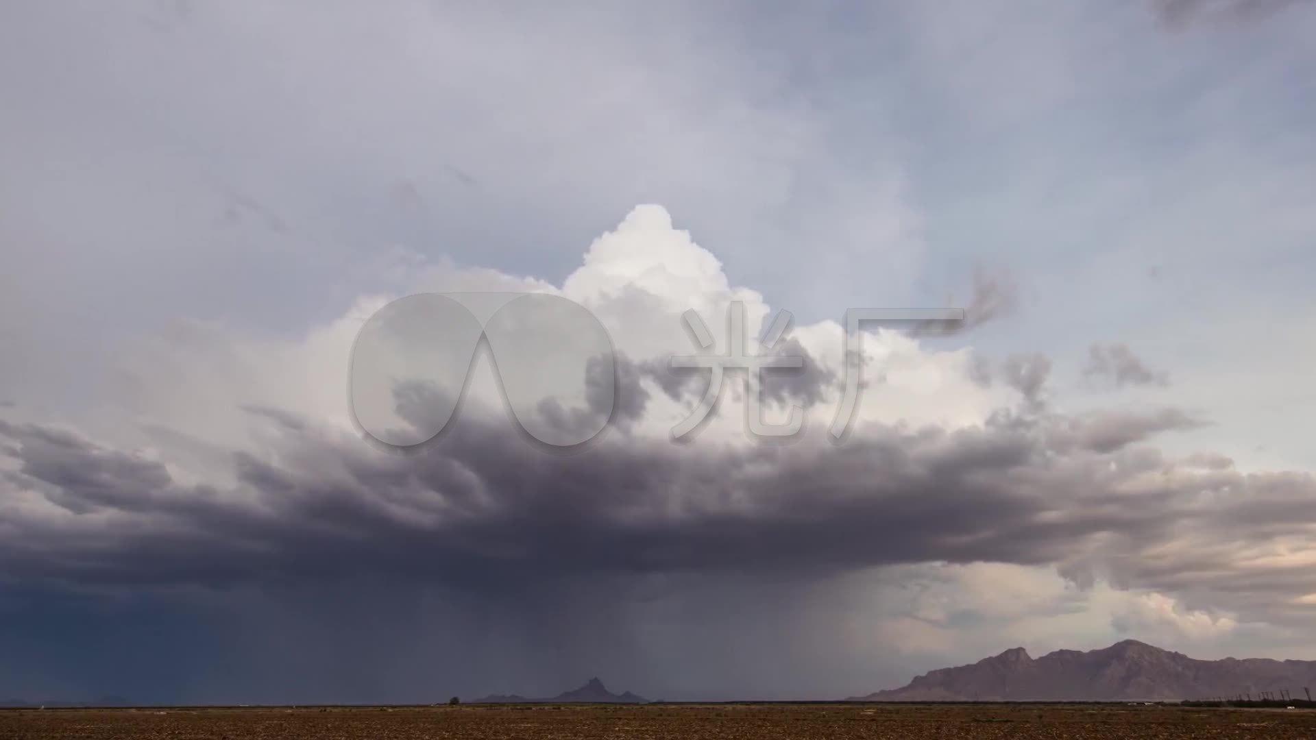 暴风雨震撼大自然气候变幻风雨来临云翻雨覆