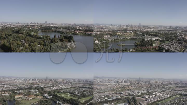 4K-log云南昆明v城市城市大景_3840X2160_高变拆装空调视频图片