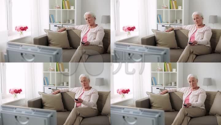 空巢老人看电视电视剧图片