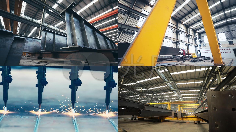 重工业钢结构生产工厂工人焊接