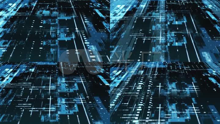 军事科技电流电路板科幻人工智能大数据片头