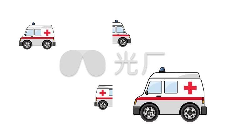 120救护车简笔画图片