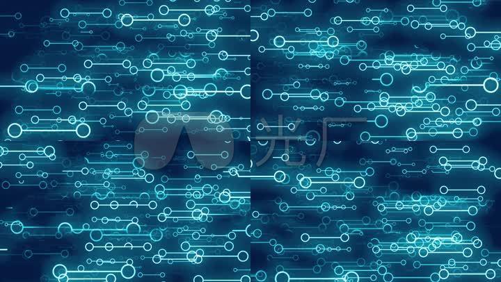 线圈线条圆圈科技感智能科幻背景