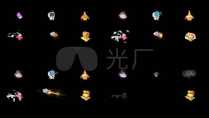 虎牙直播礼物动画素材(带通道)图片