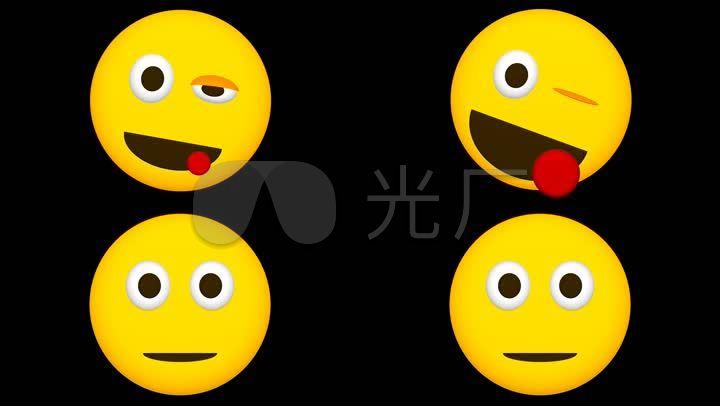 网络表情可爱小黄脸_1920X1080_视频火柴素表情人微信高清包图片