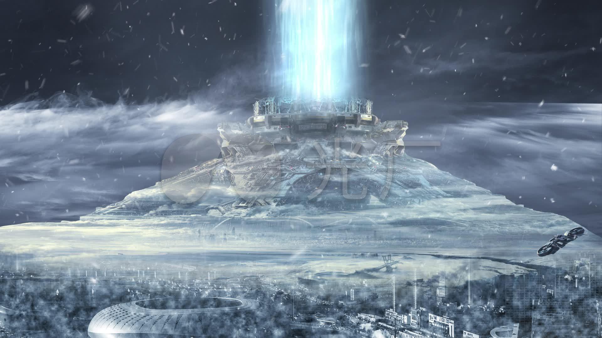 流浪地球行星发动机舞台背景_1920x1080_高清视频素材