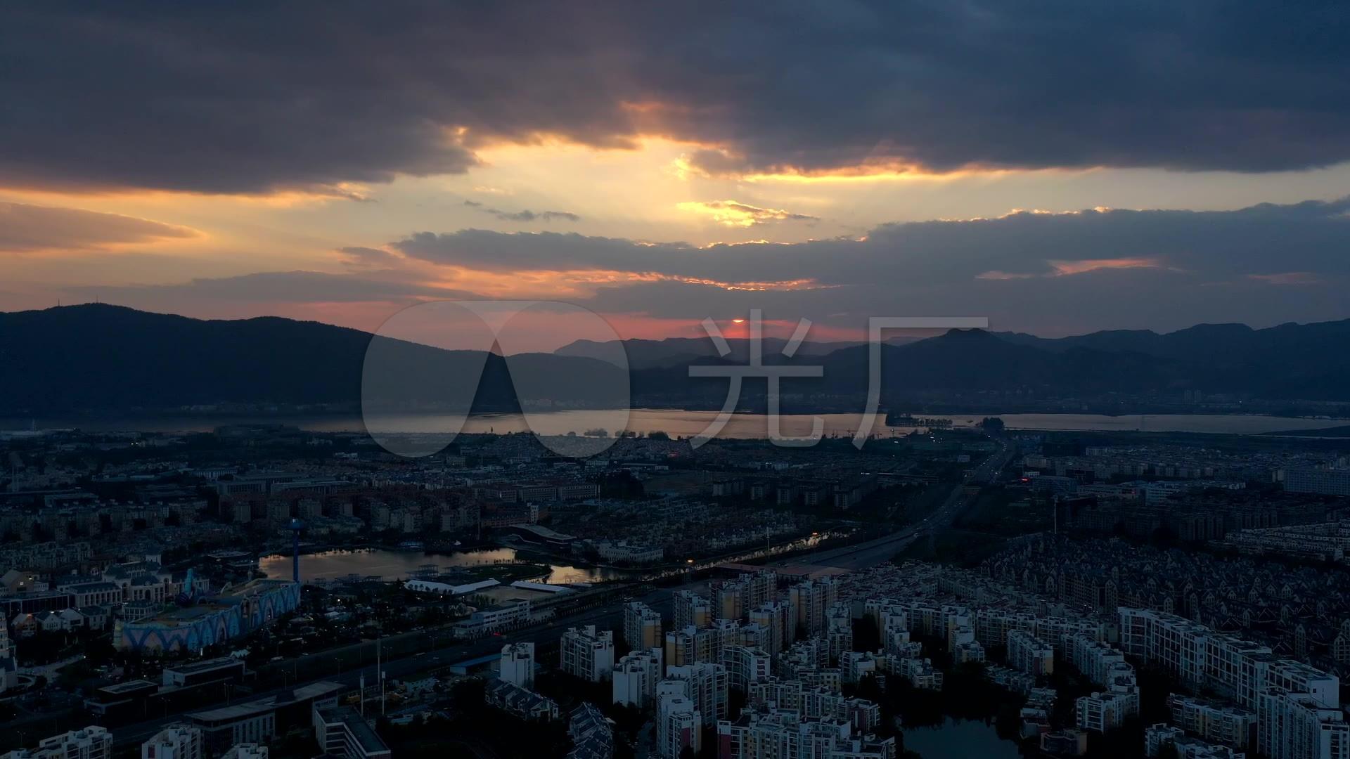 昆明高清v高清延时_1920X1080_视频素材夕阳eas视频图片